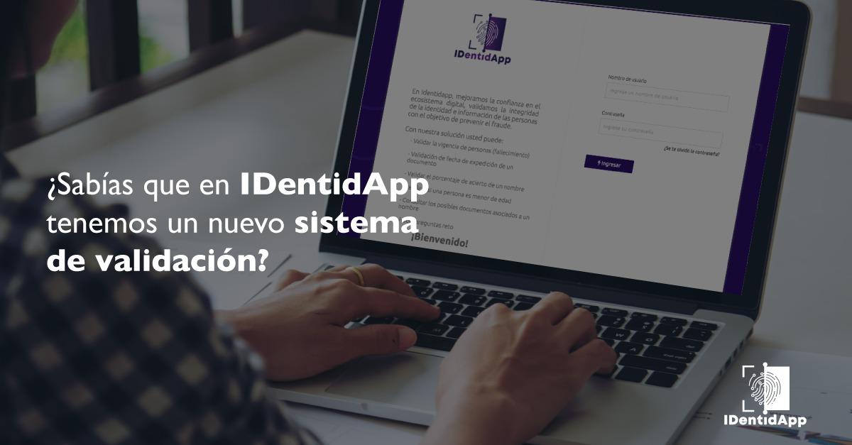 Nuevo sistema de validación en Identidapp